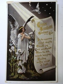 1910 BEAUTIFUL EASTER  - POSTCARD