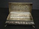 OLD STERLING SILVER FOOTED RECTANGULAR BOX