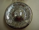 EDWARDIAN STERLING&CRYSTAL LIDED POT or JAR