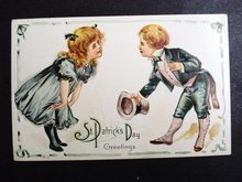 EDWARDIAN  ST PATRICK's DAY POSTCARD