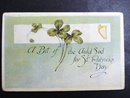 EARLY 1900's   ST PATRICK's DAY POSTCARD