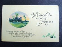 NEVER USED   ST PATRICK's DAY POSTCARD