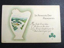ST PATRICK's DAY MEMORIES POSTCARD