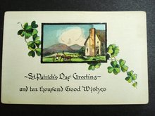 ST PATRICK's DAY GREETING -  POSTCARD