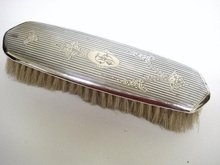 BIRMINGHAM STERLING  CLOTHES BRUSH - MONOGRAM