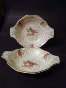 LOVELY PAIR of H.&K. TUNSTALL DISHES - CHINTZ