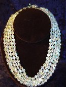 5 STRAND FACETED CRYSTAL NECKLACE