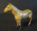 HORNBY SERIES TOY WHITE FARM HORSE