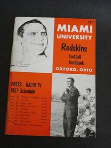 MIAMI UNIVERSITY FOOTBALL MEDIA GUIDE 1957