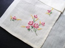 VINTAGE HANKIE PETIT POINT EMBROIDERY