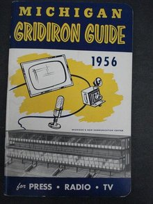 MICHIGAN FOOTBALL MEDIA GUIDE 1956