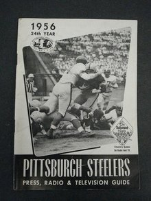 PITTSBURGH STEELERS FOOTBALL MEDIA GUIDE 1956