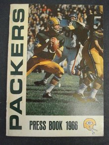 PACKERS FOOTBALL  PRESS MEDIA GUIDE 1966