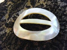 ORIGINAL MOTHER of PEARL OVAL BELT BUCKLE
