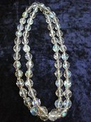 HIGHLY FACETED SINGLE STRAND CRYSTAL BEADS