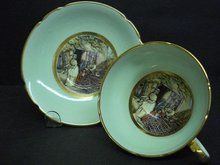 RARE ENGLISH CHINA TEACUP and SAUCER
