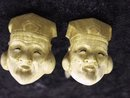 RARE CARVED IVORY - GENTLEMAN's CUFFLINKS