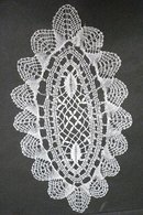 EARLY 1900's HAND MADE FINE LACE  DOILY