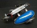 VINTAGE WIND UP TIN TOY - MOTORCYCLE