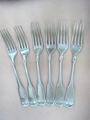 SIX LOVELY ANTIQUE DINNER FORKS