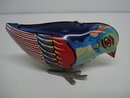 VINTAGE WIND UP TOY PRETTY BLUE BIRD