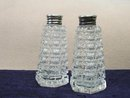 PAIR CRYSTAL SALT & PEPPER SHAKERS