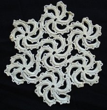 Unique Hand Crochet Lace DOILY