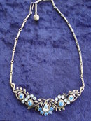 CORO NECKLACE RHINESTONES SIGNED