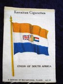 CIGARETTE SILK FLAG SOUTH AFRICA