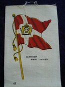 CIGARETTE SILK FLAG  DANISH WEST INDIES