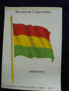 CIGARETTE SILK  FLAG BOLIVIA