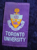 CIGARETTE SILK SHIELD OF TORONTO UNIVERSITY