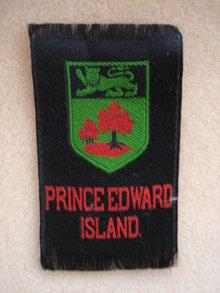 CIGARETTE SILK  SHIELD OF PRINCE EDWARD ISLAND