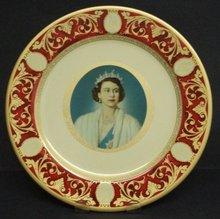 Queen Elizabeth II Plate Portland Ware Metal