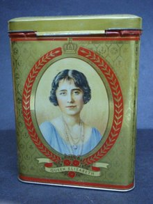Royal Tin Box King George VI and Queen Elizabeth