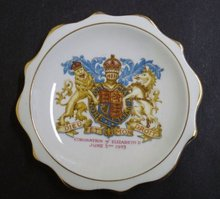 Royalty Dish Coronation of Elizabeth II 1953