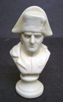 Napoleon Bust  Milk Glass Miniature