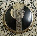 Deco Compact 1920's Black & Silver