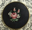 COMPACT PETIT POINT on BLACK SILK