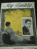 MY BUDDY Sheet Music 1922