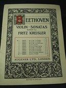 BEETHOVEN  VIOLIN - SONATAS 1911