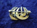 Precious Museum Quality  Victorian Brooch Horseshoe's Gold Filled Top