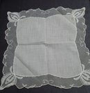 VINTAGE WEDDING HANKY  BRIDES FINEST  LACE HANDKERCHIEF
