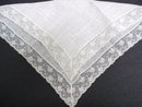 ANTIQUE  HANKY  FINE  LACE HANDKERCHIEF