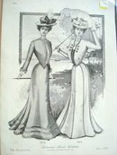 1901 Fashion Print Summer Street Toilettes