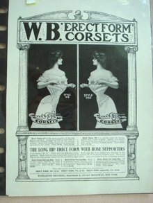1901 Fashion Print Erect Form Corsets