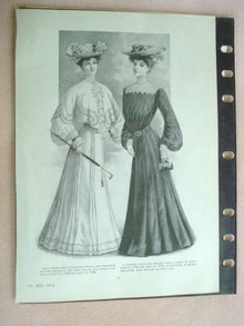 Fashion Print - EDWARDIAN ERA FASHIONS #21