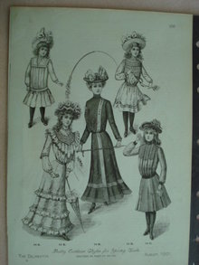 Fashion Print - EDWARDIAN ERA FASHIONS #25