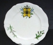 ADDERLEY CHINA PLATE MACLEOD CLAN TARTAN #2