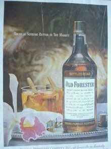 MAGAZINE ADVERTISEMENT OLD FORESTER